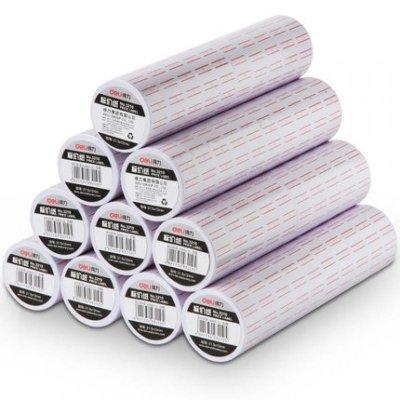 得力 3210標價紙 單排標簽紙 商品 標價紙 打碼紙 打價紙 10卷