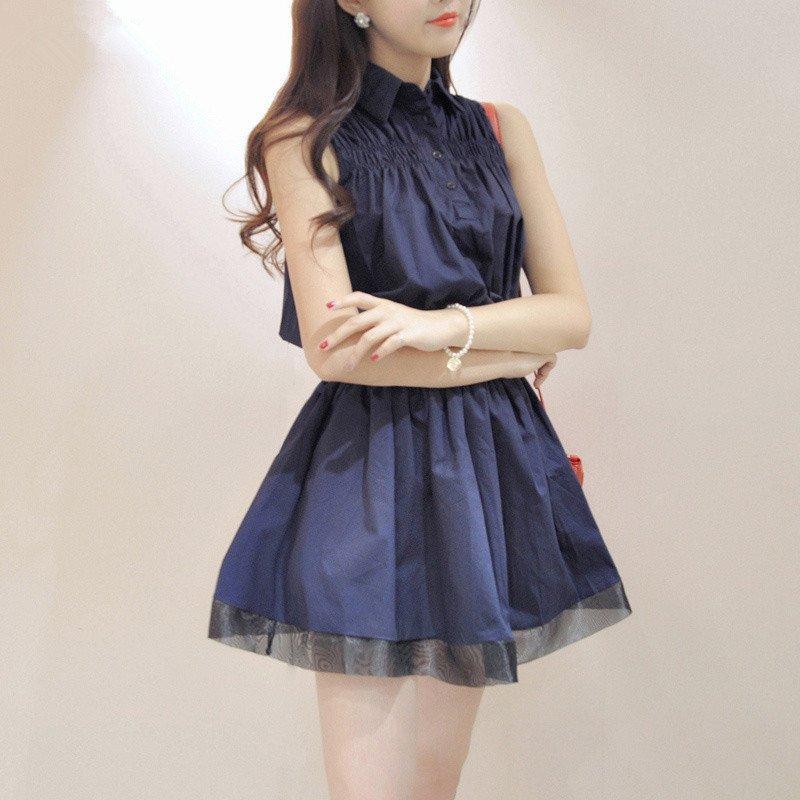 连衣裙2016夏季女装新品甜美淑女修身显瘦蓬蓬裙可爱公主短裙衬衫裙