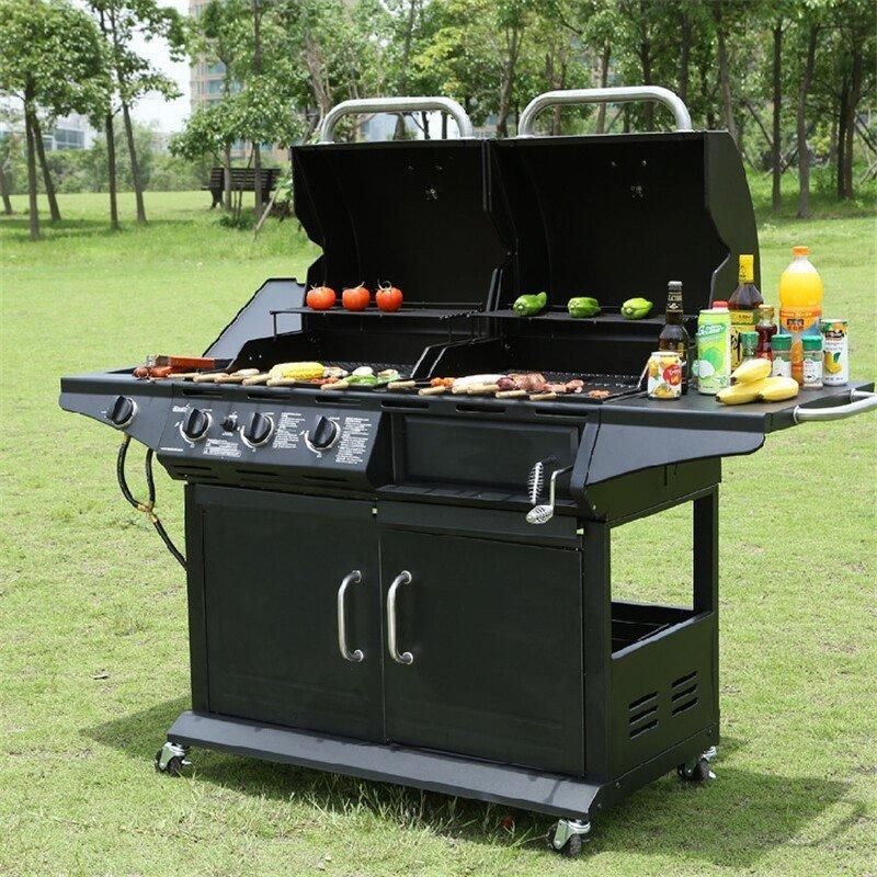 豪華休閑用品燒烤爐烤架 戶外家用庭院別墅加厚木炭燒烤爐子