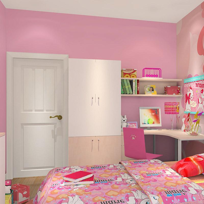 科凡女孩卧室家具组合定制 可爱现代简约两门整体儿童大衣柜 书柜