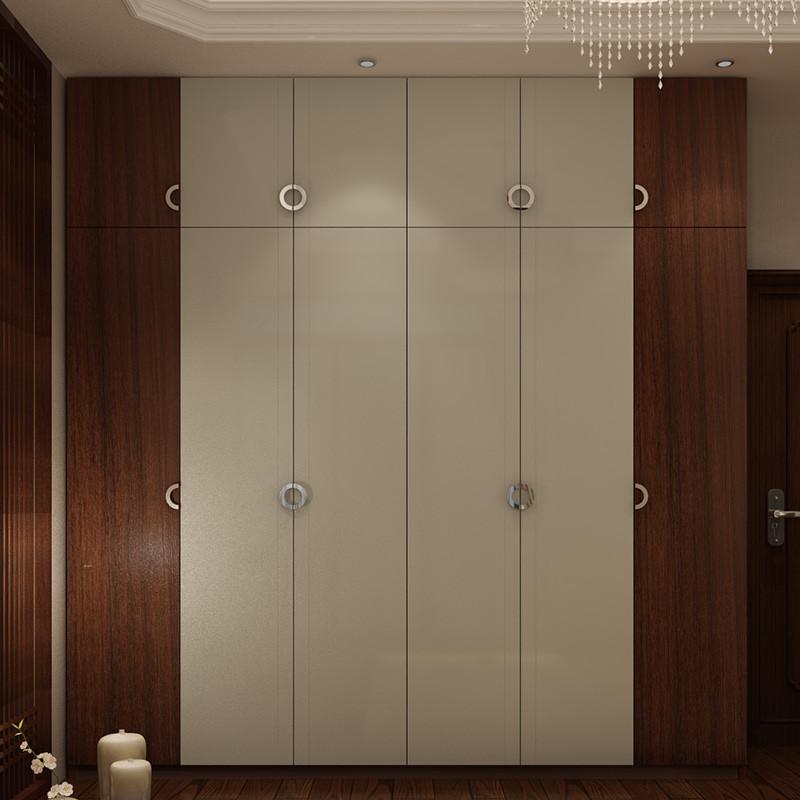 科凡简约新中式整体平开门大衣柜 卧室家具成套组合全