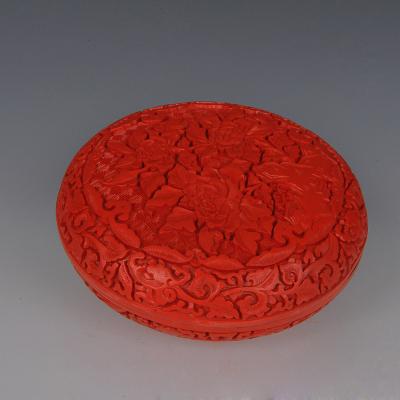 中工美 工藝品 漆器 錦地花盒北京禮物送外賓