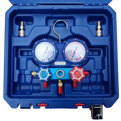 帮客材配 安居士 制冷剂加氟表组 包含专用加液表1件 1/4标准接头2件 1.5米长加液管1套