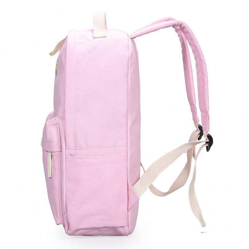 学生书包女高中初中小学生韩版学院风大容量帆布休闲可爱双肩包背包女