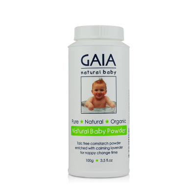 2瓶價 澳洲直郵 GAIA天然玉米嬰兒寶寶爽身粉痱子粉 嬰兒祛痱粉 100g/瓶