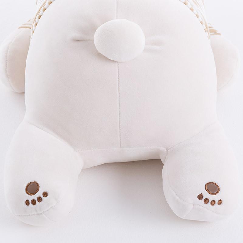 顾家家居 简约动物造型抱枕居家摆件北极熊 趴趴熊毛绒玩具xj,1-3天