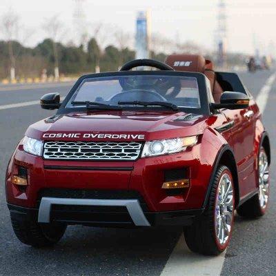 路虎兒童電動車 四輪可坐人玩具車 寶寶電動汽車越野 帶遙控 帶搖擺 嬰兒快樂達童車PP