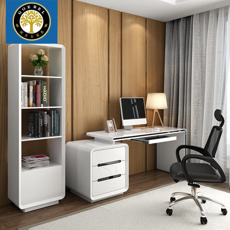 台式电脑桌 家用写字台 办公桌卧室电脑桌书桌书架组合