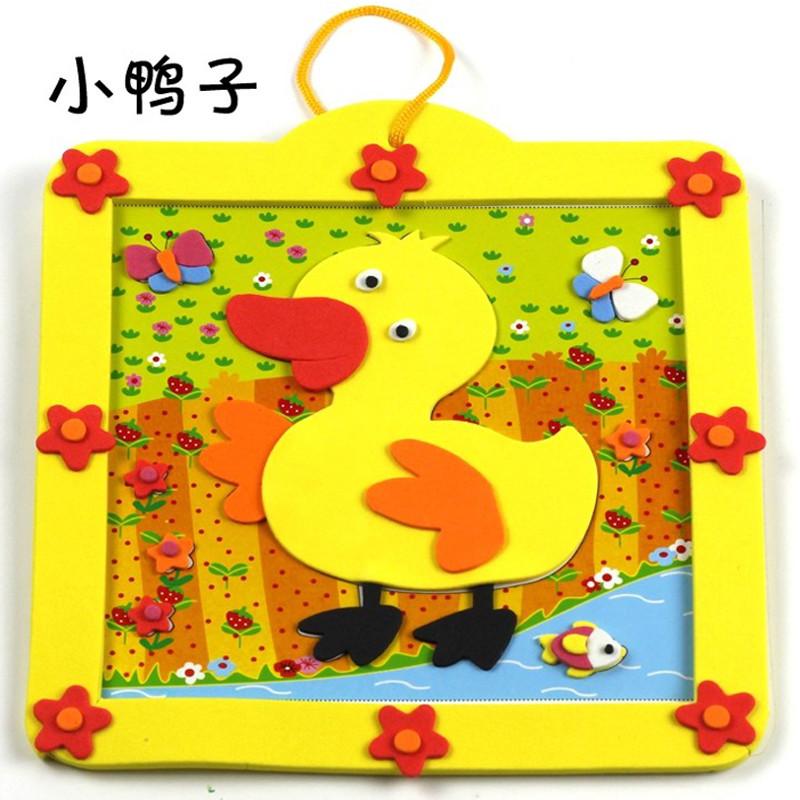 动物相框立体贴画贴纸儿童手工制作材料包玩具 鸭子