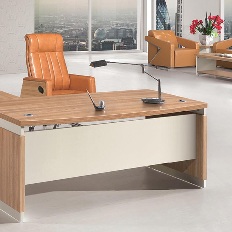 优发办公家具 简约现代弧形台面板式老板桌简易经理台图片