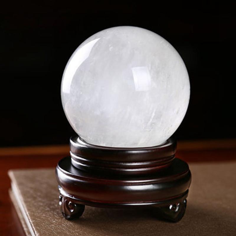 2016转运家居装饰招财聚财风水球 材质: 方解石 仿白水晶球摆件