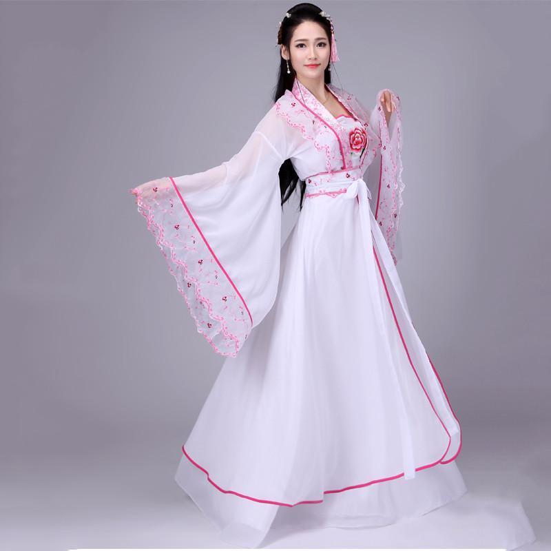 飘逸仙女古装唐装汉服女唐朝贵妃公主演出服古代服装齐胸襦裙