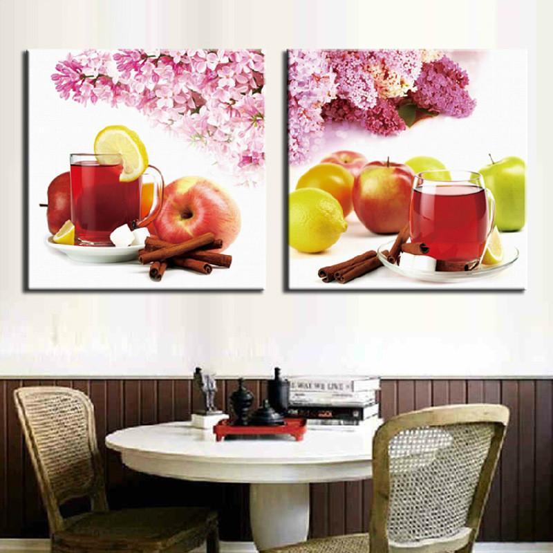 酒杯水果十字绣餐厅新款 饭厅十字绣厨房花卉欧式挂画刺绣系列 图案大