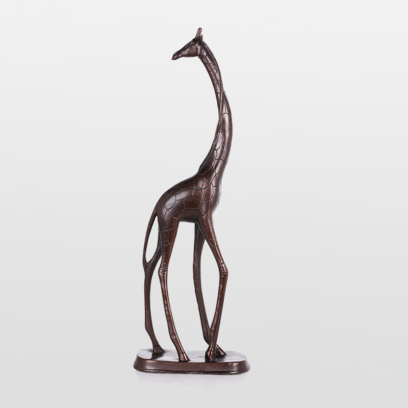 纯铜长颈鹿工艺品摆件 家居客厅欧式装饰品办公室摆设