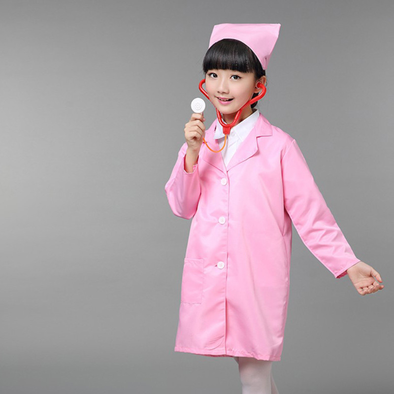 幼儿园男女医生服饰医院小护士角色圣诞元旦表演服 职业表演演出服装