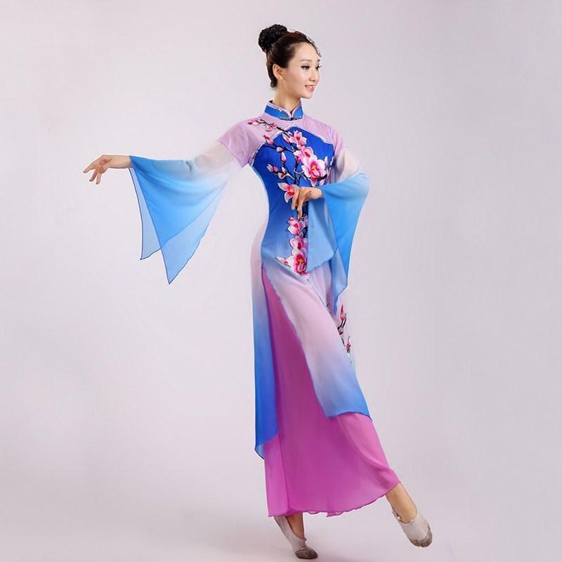 舞蹈_新款秧歌服扇子舞民族舞广场舞蹈服装女成人古装古典舞演出服