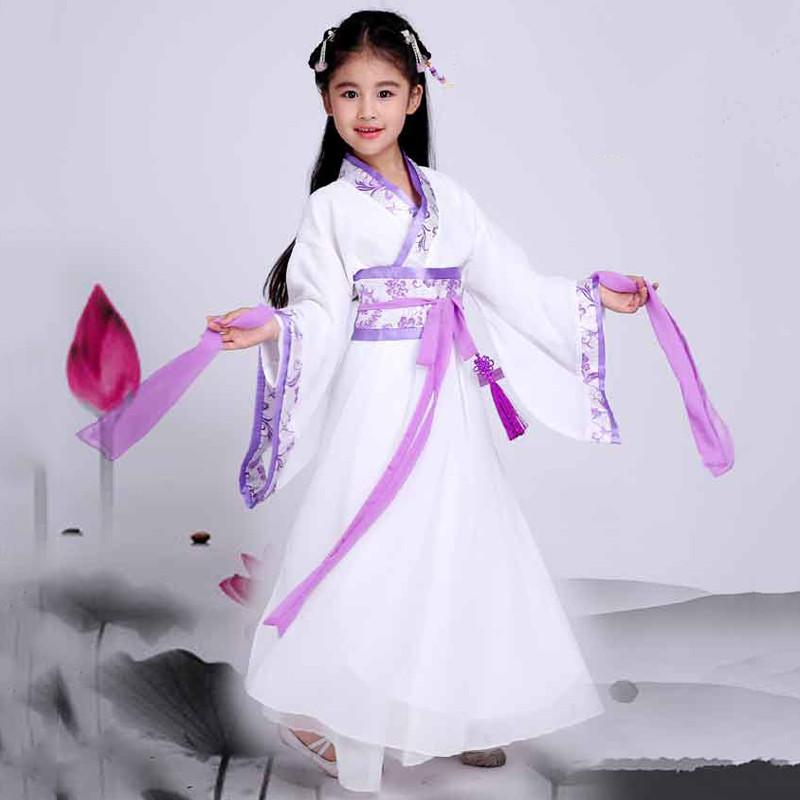 儿童古装服装仙女 女童古装演出服七仙女古装汉服 儿童古装汉服女