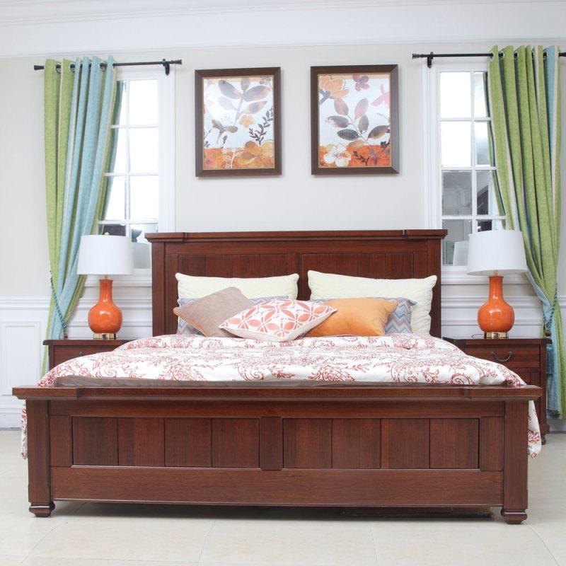 8米美式乡村双人床新美式家具美式床图片