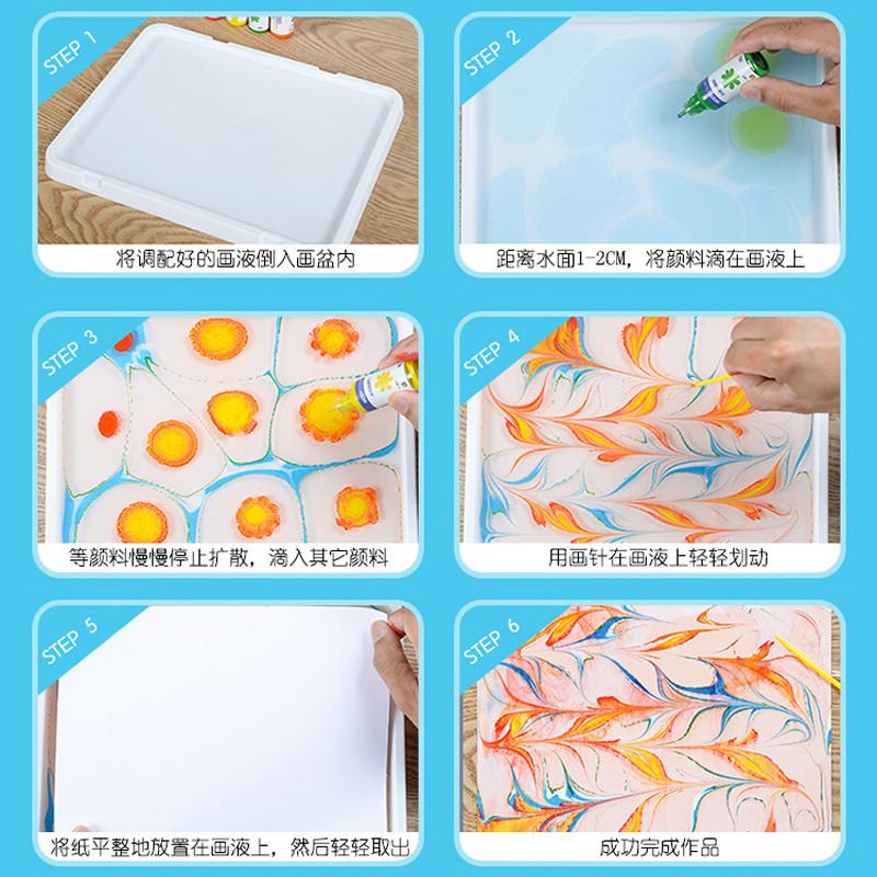 水拓畫禮盒套裝 兒童畫畫工具顏料濕拓畫水影畫涂鴉創意作畫美術用具