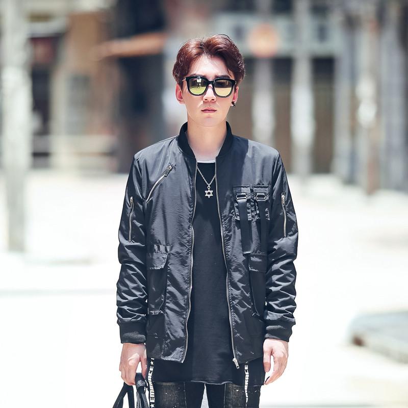 古莱登秋款 个性多口袋多拉链设计男士夹克外套 kk354