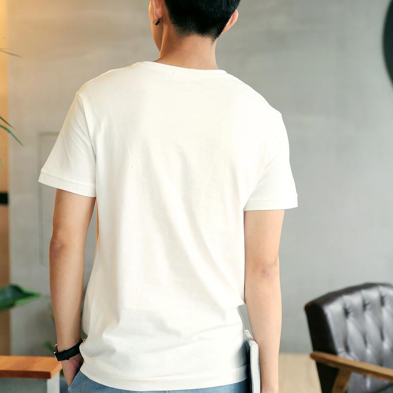 2016夏季男士短袖t恤 男韩版圆领印花白色半袖体恤上衣服潮流男装