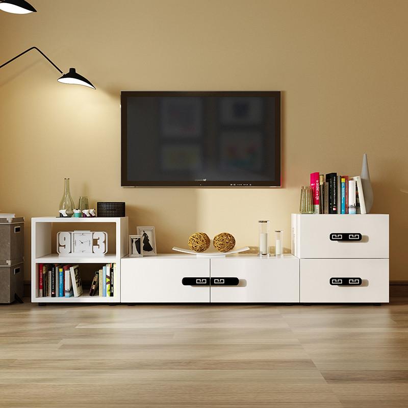 派林隆 电视柜 现代简约中式电视机柜 客厅家具钢琴烤漆电视地柜