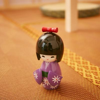 大岛优田 榻榻米空间摆件1个小人偶装饰品1把扇子摆饰 随机发