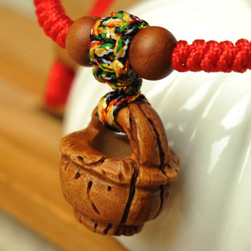 桃核桃木手链婴儿红绳编织手串 宝宝儿童本命年红绳