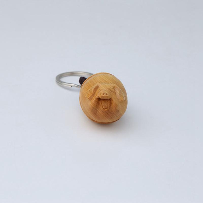 卡通猪 黄杨木雕 挂件手把件木制工艺品动物