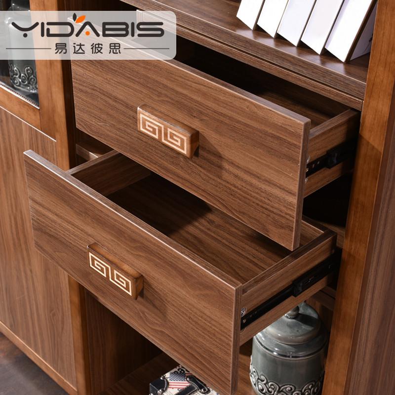 易达彼思 实木书柜现代中式家具主体框架实木组合书柜