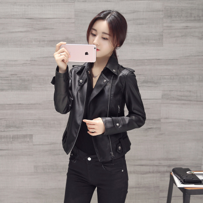 無畏衣衣2020新款女春裝韓版修身顯瘦長袖短款修身小外套大碼機車PU皮衣女