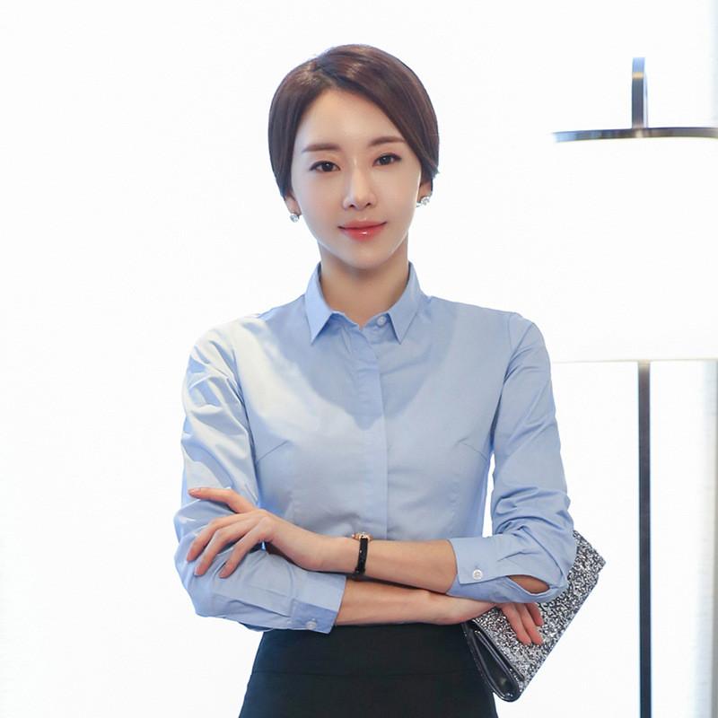 莎密职业装女装套裙春季女士正装韩版长袖衬衫套装工作服
