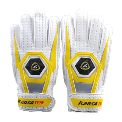 狂神足球守门员手套 乳胶带护指门将爬行手套 足球运动手套
