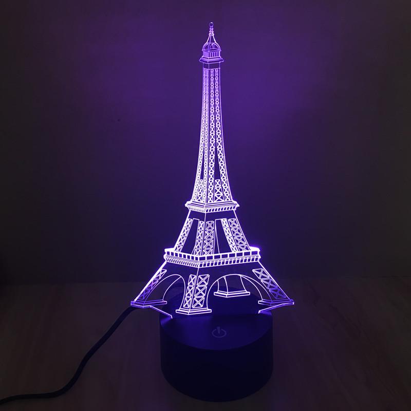 七彩埃菲尔铁塔3d灯