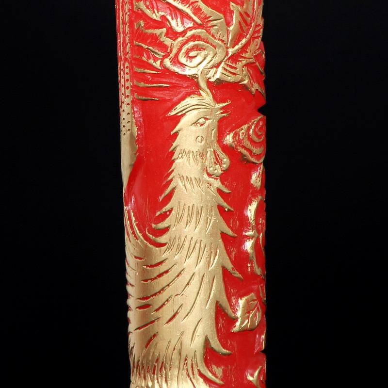 吟秀 婚庆用品中式洞房花烛婚房装饰布置大红龙凤蜡烛