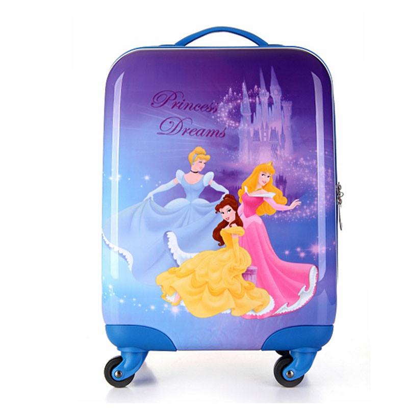 运动户外旅游用品万向轮登机箱卡通儿童拉杆箱可爱行李箱pc旅行箱包1.