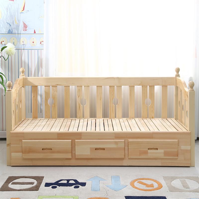 星曦菲 实木折叠沙发床 多功能沙发床1.5 沙发床1.