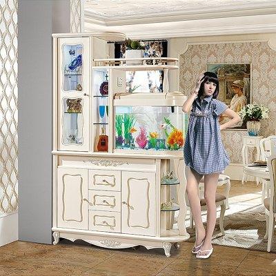 欧式鱼缸玄关柜客厅隔断柜屏风门厅装饰柜