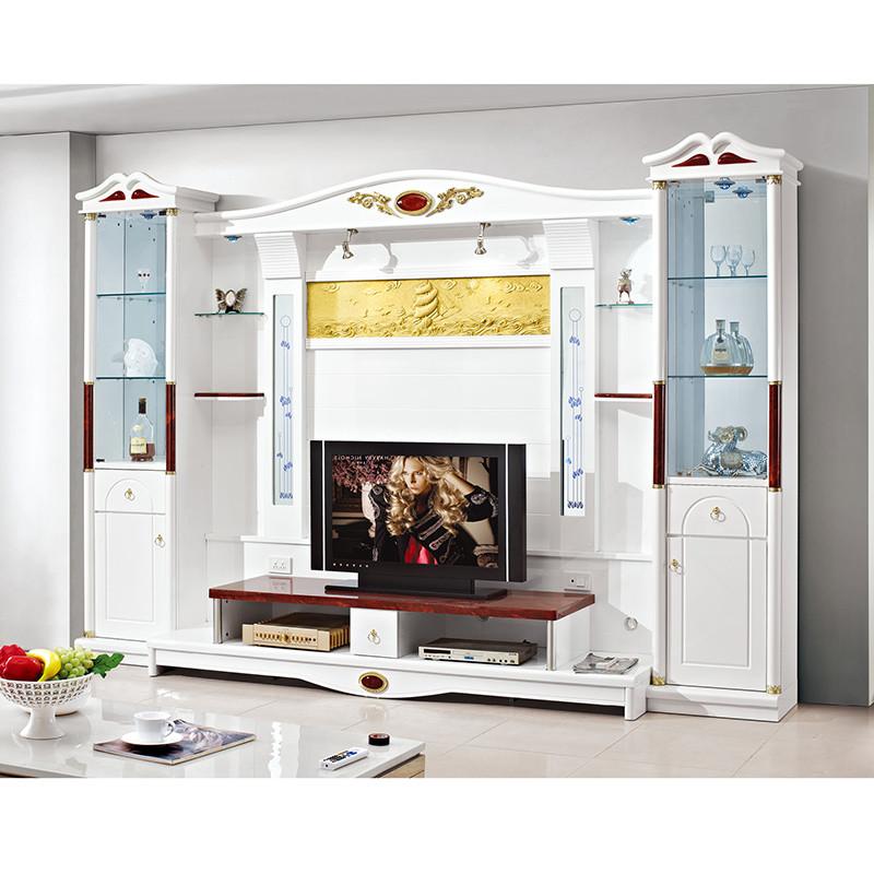 欧式电视柜组合背景墙柜
