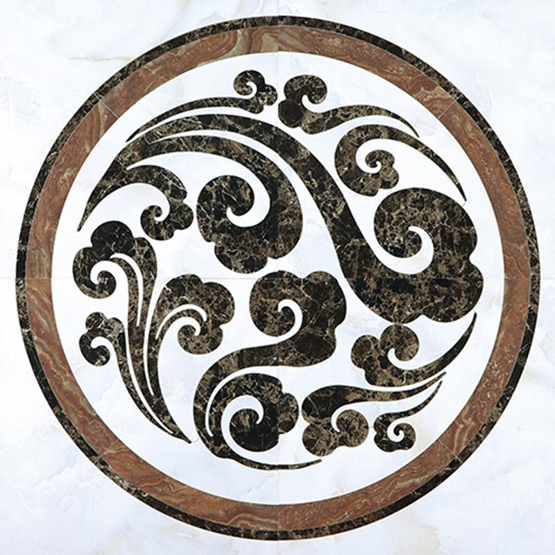 圣亚高瓷砖 客厅水刀地心拼花地砖 欧式玄关拼图可定制 水刀工艺图片