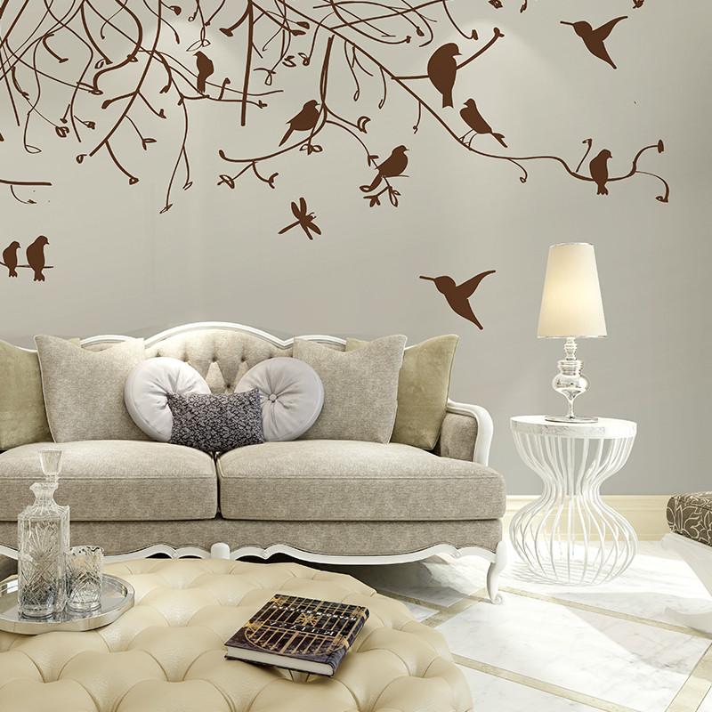 北欧美式风格客厅卧室沙发墙壁纸