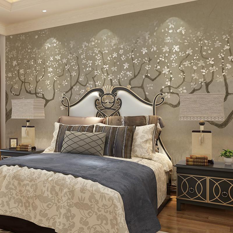北欧客厅卧室影视墙墙纸 定制整张无缝墙布4191图片