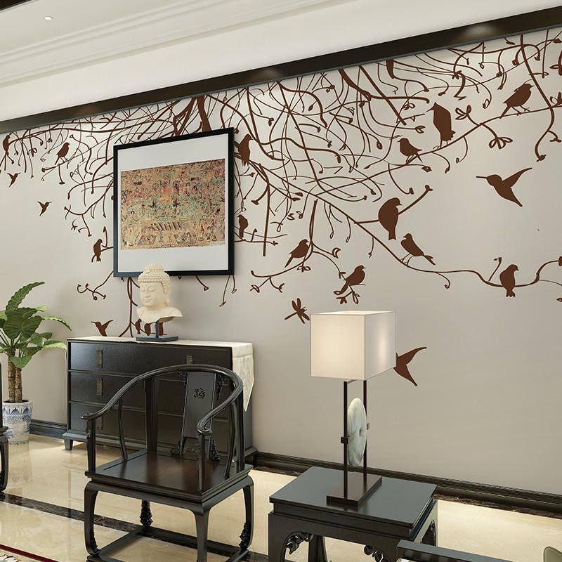 卡茵 现代简约背景墙壁画 北欧美式风格客厅卧室沙发墙壁纸 影视墙