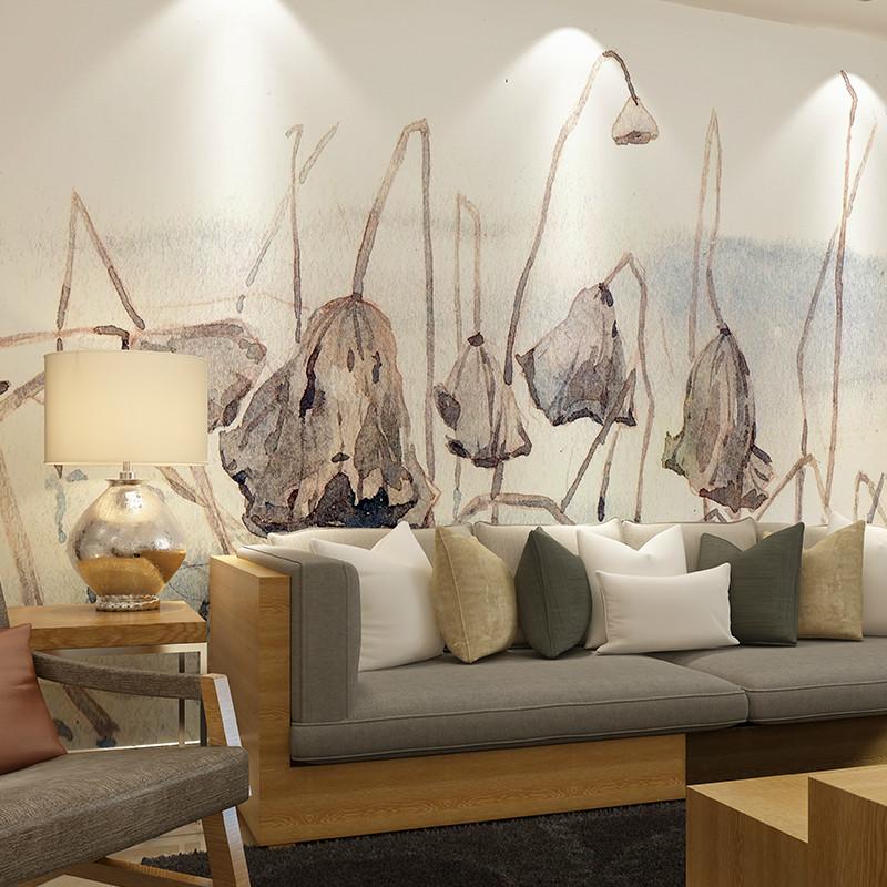 卡茵 个性创意定制墙纸 简约中式素雅壁纸水墨中国风墙纸 客厅电视图片