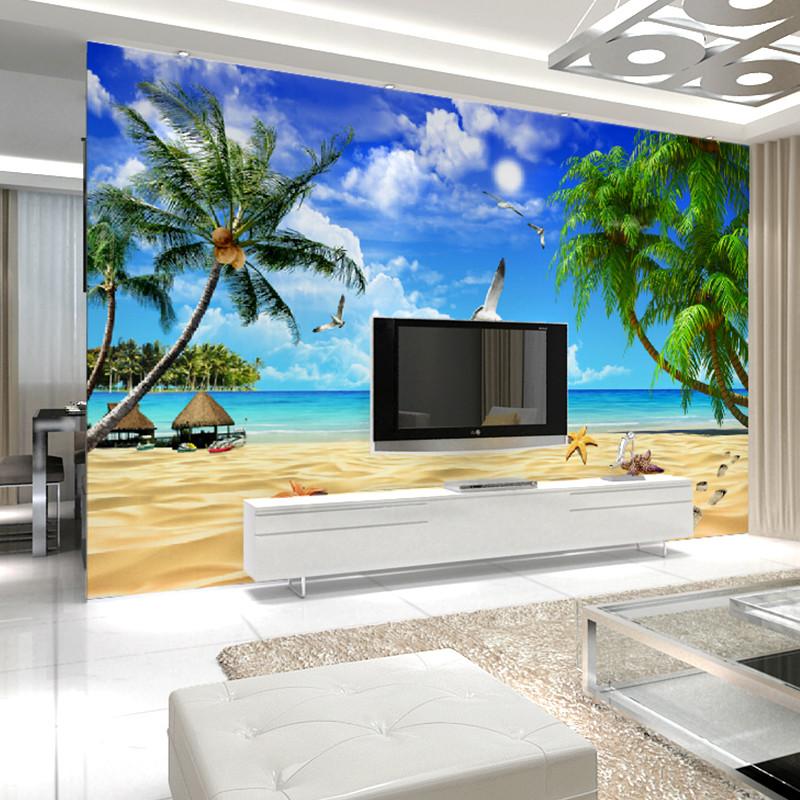 卡茵 地中海风格 整张无缝大型壁画图库 客厅电视背景墙墙纸影视墙