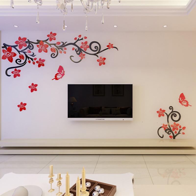 墙贴 贴纸 贴画 电视沙发影视背景墙装饰贴 亚克力立体墙贴 客厅卧室