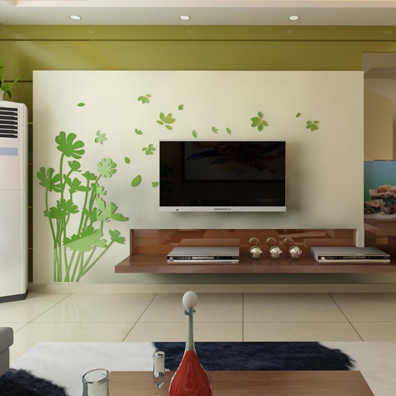贴画 电视背景墙墙贴 立体亚克力墙贴 墙面装饰品 客厅卧室创意影视墙