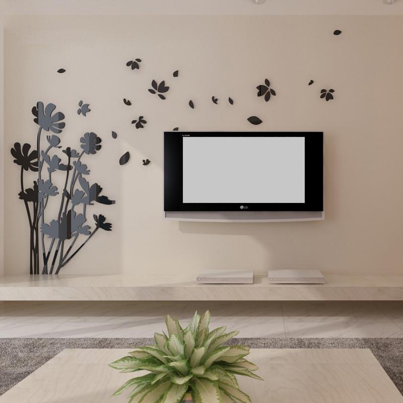 立体贴纸贴画 电视背景墙墙贴 立体亚克力墙贴 墙面装饰品 客厅卧室创
