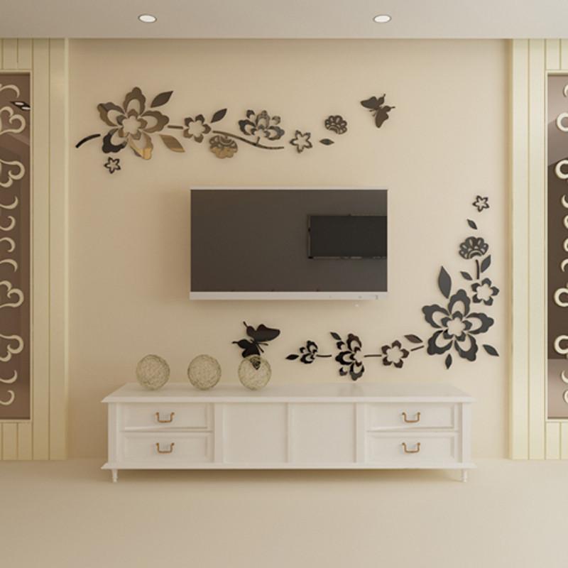 墙贴 墙壁贴画 立体贴纸 亚克力立体墙贴 卧室客厅房间电视背景墙装饰