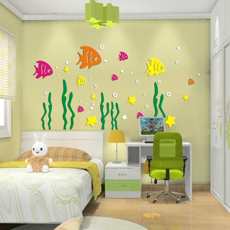 贴纸 壁饰 装饰贴 亚克力立体墙贴 儿童房卡通墙上贴画 幼儿园背景